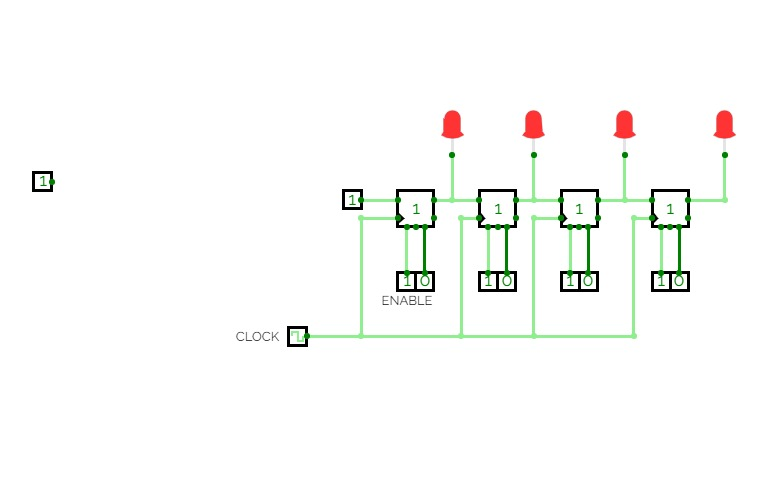 4-Bit Serial-In Parallel-Out Shift Register