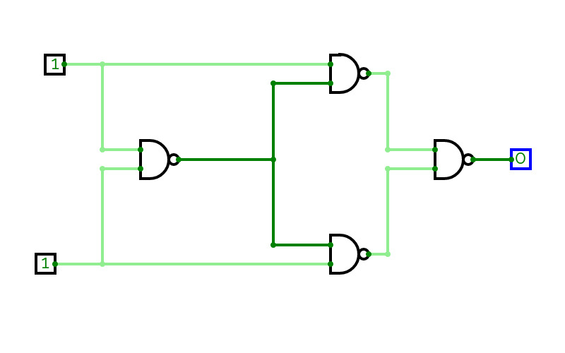 nand to ex or circuit